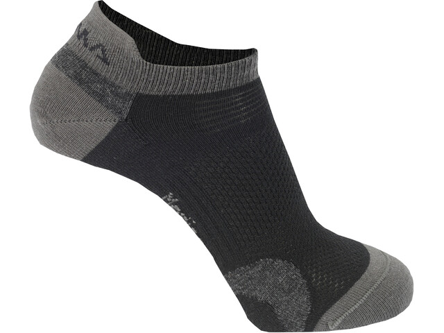 Aclima Ankle - Calcetines - 2 Pack gris/negro